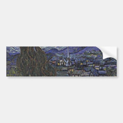 Starry Night Bumper Sticker