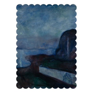 Starry night by Edvard Munch symbolist painter Card