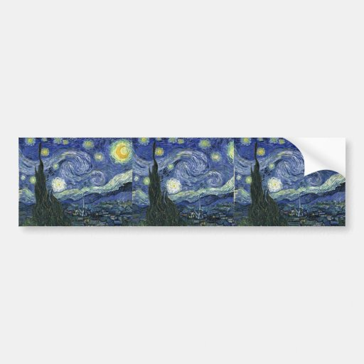 Starry Night by Van Gogh Bumper Stickers