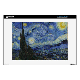 """Starry Night by Van Gogh Computer Skin Decals For 13"""" Laptops"""