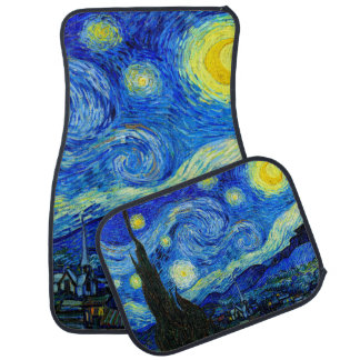 Starry Night by Van Gogh Fine Art Car Mat