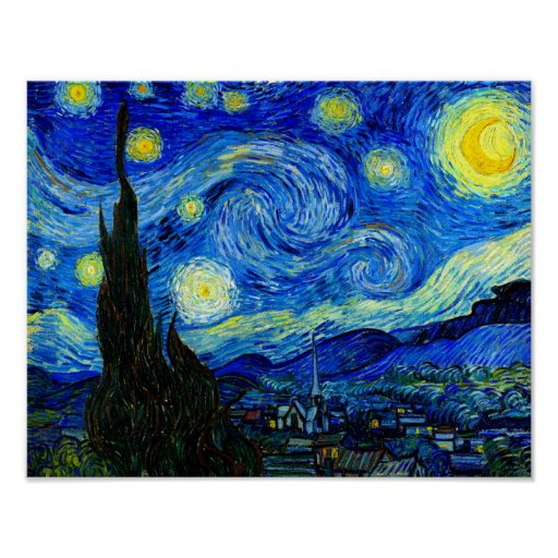 Clever image within starry night printable