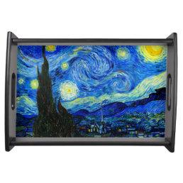 Starry Night by Van Gogh Fine Art Serving Tray