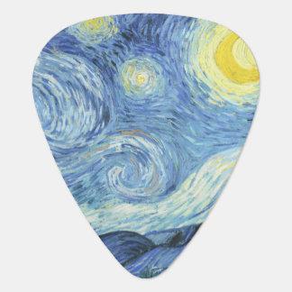 Starry Night by Van Gogh Guitar Pick