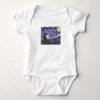Starry Night by Van Gogh infant creeper