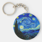 Starry Night by Van Gogh Keychain