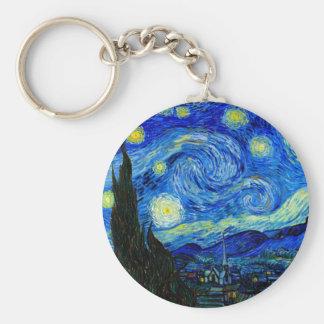 Starry Night by Van Gogh Keychain