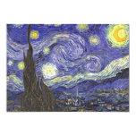 "Starry Night by Van Gogh Patio Party Invitation 5"" X 7"" Invitation Card"