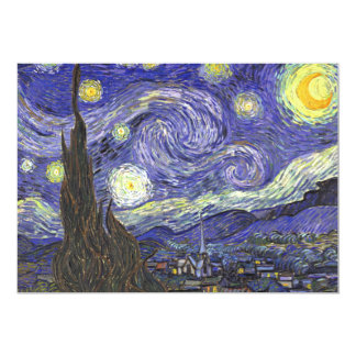 Starry Night by Van Gogh Patio Party Invitation