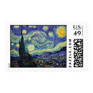 Starry Night by van Gogh Postage