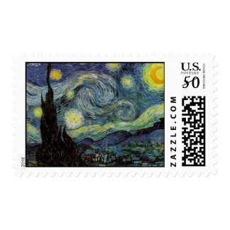 Starry Night by van Gogh Postage Stamps