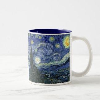 Starry Night by Van Gogh Two-Tone Coffee Mug