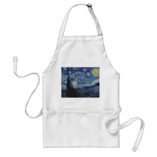 Starry Night by Vincent van Gogh - 1889 Adult Apron