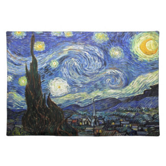 Starry Night By Vincent Van Gogh 1889 Cloth Placemat