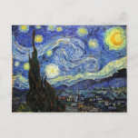 """Starry Night By Vincent Van Gogh 1889 Postcard<br><div class=""""desc"""">To the best of my thesis images are in public domain believed to be free to use without restriction in the US.   Please contact me if you discover that any of these images are not in Public Domain.</div>"""