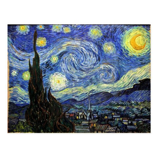 Starry Night By Vincent Van Gogh 1889 Post Card