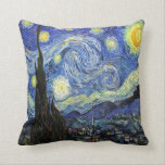 "Starry Night By Vincent Van Gogh 1889 Throw Pillow<br><div class=""desc"">To the best of my knowledge these images are in public domain and believed to be free to use without restriction in the US. 