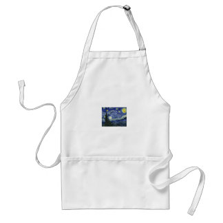 Starry Night by Vincent Van Gogh Adult Apron