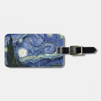 Starry Night by Vincent Van Gogh Bag Tag