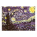 Starry Night by Vincent van Gogh, Birthday Party Personalized Invitation