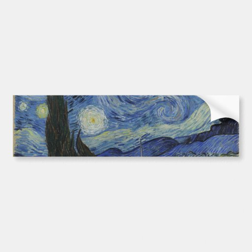 Starry Night by Vincent Van Gogh Bumper Stickers