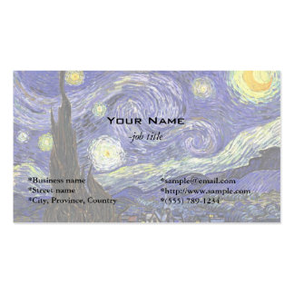 Starry Night by Vincent van Gogh. Business Card