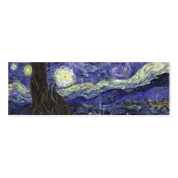 Starry Night by Vincent van Gogh. Business Card Templates