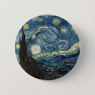 Starry Night by Vincent Van Gogh Button