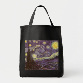 Starry Night by Vincent van Gogh Canvas Bag