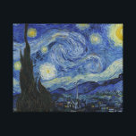 "Starry Night by Vincent van Gogh Canvas Print<br><div class=""desc"">Vincent Willem van Gogh was a Post-Impressionist painter of Dutch origin whose work—notable for its rough beauty, emotional honesty, and bold color—had a far-reaching influence on 20th-century art. After years of painful anxiety and frequent bouts of mental illness, he died aged 37 from a gunshot wound, generally accepted to be...</div>"