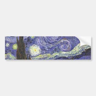 Starry Night by Vincent van Gogh Car Bumper Sticker