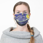 "Starry Night by Vincent van Gogh Cloth Face Mask<br><div class=""desc"">Starry Night by Vincent van Gogh</div>"