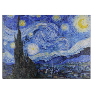 Starry Night by Vincent Van Gogh Cutting Board