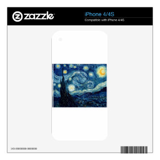 Starry Night By Vincent Van Gogh Decals For The iPhone 4