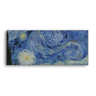 Starry Night by Vincent Van Gogh Envelope