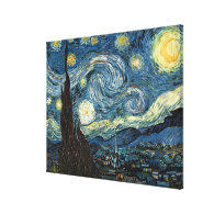 Starry Night by Vincent van Gogh.  Famous art Canvas Print