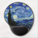 "Starry Night by Vincent van Gogh Gel Mouse Pad<br><div class=""desc"">A mouse pad with Starry Night(1889),  an oil painting by Vincent Van Gogh (1853-1890). A painting depicting the view outside the window from Van Gogh&#39;s room at the sanitorium in Saint-Remy-de-Provence,  Southern France.</div>"
