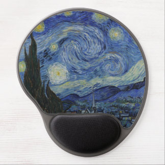 Starry Night by Vincent Van Gogh Gel Mouse Mats
