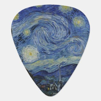 Starry Night By Vincent Van Gogh Guitar Pick by Art_Museum at Zazzle