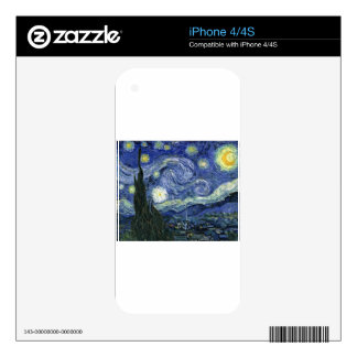 Starry Night by Vincent Van Gogh iPhone 4 Decals
