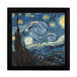 Starry Night by Vincent Van Gogh Keepsake Boxes