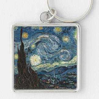 Starry Night by Vincent van Gogh Keychain