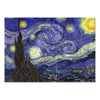 Starry Night by Vincent van Gogh. Large Business Card