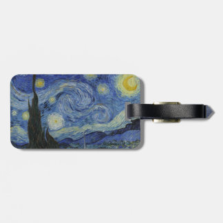 Starry Night by Vincent Van Gogh Luggage Tag
