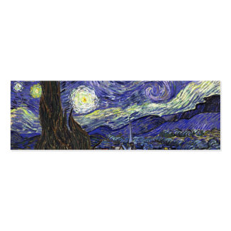 Starry Night by Vincent van Gogh. Mini Business Card