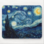 """Starry Night By Vincent Van Gogh Mouse Pad<br><div class=""""desc"""">Starry Night By Vincent Van Gogh</div>"""