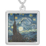 Starry Night by Vincent van Gogh Personalized Necklace