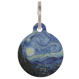 Starry Night by Vincent Van Gogh Pet ID Tag