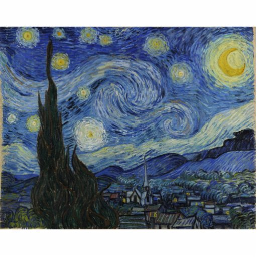 Starry Night by Vincent Van Gogh Cut Outs