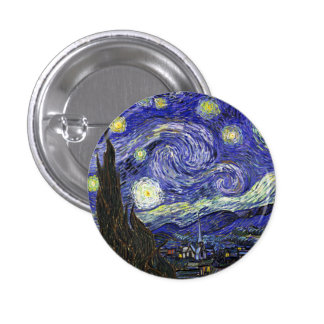 Starry Night by Vincent van Gogh Pinback Button